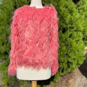 Funky Hot Pink Fake Fur Coat